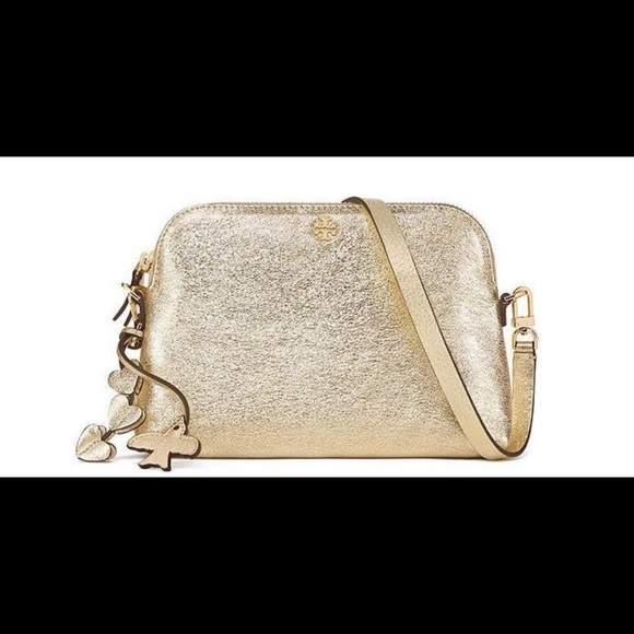 1ffdd080c901 ... canada nwt tory burch peace crossbody bag gold metallic 45841 c87f6